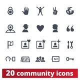 People Community And Communication Icons Set royalty free illustration