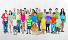 People Community Diversity Crowd Concept Royalty Free Stock Images