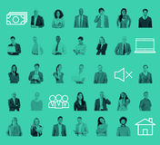 People Community Technology Connection Networking Concept Royalty Free Stock Image
