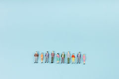 People community, togetherness concept on blue background with copy space for ad text. People community, togetherness concept on blue background with copy space Stock Images