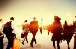 People Commuter Walking Rush Hour Traveling Concept Royalty Free Stock Photo