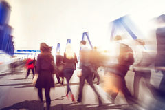 People Commuter Walking Rush Hour Traveling Concept Royalty Free Stock Images