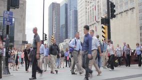 People commuting in Chicago 1080p hd. People commuting in Chicago, transitional or editorial shot 1080p hd stock video