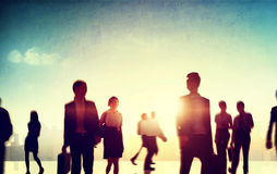 People Commuting Morning City Travel Concept Royalty Free Stock Image