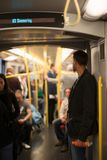 People commuting Vienna metro Royalty Free Stock Image