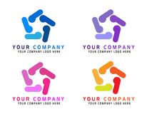 People company abstract business logo, Social media, internet, people connect logo type idea. network integrate team work logo. On white background in ai10 royalty free illustration