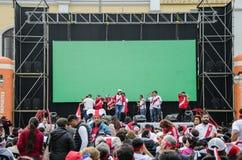 Lima, Peru - OCTOBER 10th 2017: Fanaticism in Peru Peru vs Colo Royalty Free Stock Image