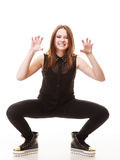 People concept - teenage girl making silly face Royalty Free Stock Image