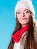 People concept - teenage girl making silly face Royalty Free Stock Photos