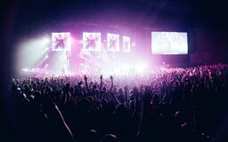 People in Concert Royalty Free Stock Image