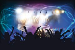 People at concert Royalty Free Stock Image