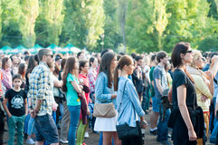 People at concert Stock Photography