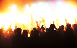 People in concert Stock Images