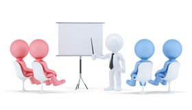 People at conference. Business concept . Contains clipping path of scene and board. Royalty Free Stock Images