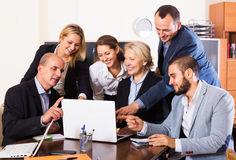 People during conference call indoors Stock Photography