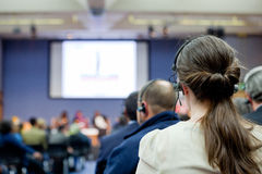 People in conference hall Royalty Free Stock Photos