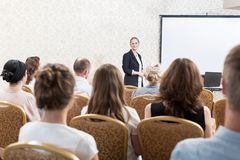 People at the conference Royalty Free Stock Photo