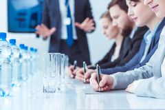 People in conference room royalty free stock photography