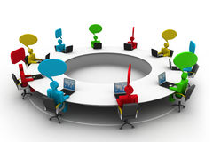 People at  conference table. 3d business people at  conference table Royalty Free Stock Images