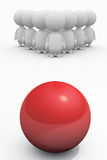 People Confront with Danger as Bowling. Illustration of a group of people confront with danger Royalty Free Stock Image