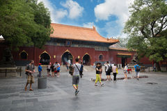 People in Confucius Temple in Beijing Royalty Free Stock Photos
