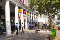 People at the Connaught place Stock Photography