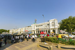 People at the Connaught place Stock Images