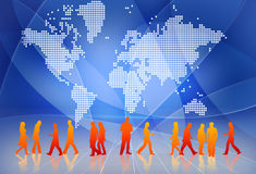 People connect. People around the world connect each other Royalty Free Stock Photos
