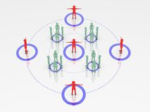 People connected. High resolution 3D render Royalty Free Stock Photography