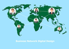 People connected all around the world. Vector Stock Image