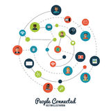 People connected design Royalty Free Stock Image