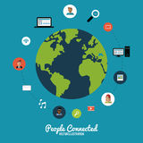 People connected design Royalty Free Stock Photo