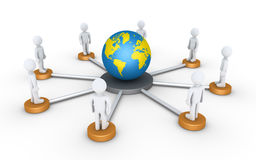People connected to the world Royalty Free Stock Photo