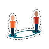 People connecting social media-dotted line Royalty Free Stock Images