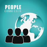 People connection design. Social Network icon, vector graphic Royalty Free Stock Image