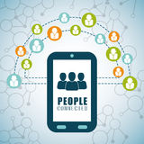People connection design. Social Network icon, vector graphic Royalty Free Stock Images