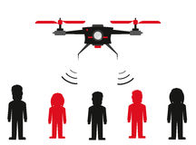 People connection with drone concept Stock Image