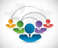 People connection network illustration Royalty Free Stock Photography