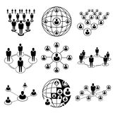 People connection royalty free illustration