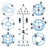 People connection and social network icons royalty free illustration