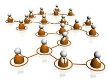 People connection teamwork Royalty Free Stock Image