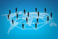 People connections. Illustration of People connections network stock illustration