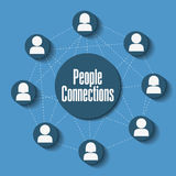 People connections design Royalty Free Stock Photo