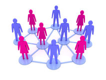 People connections. Social Network. Concept 3D illustration Royalty Free Stock Photo
