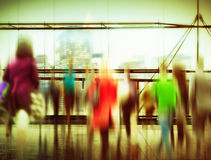 People Consumer Shopping Commuter Consumerism Crowded Concept Royalty Free Stock Photo