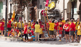 People  converge at  National Day of Catalonia Royalty Free Stock Image