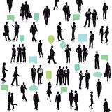 People with conversation bubbles Royalty Free Stock Photos