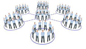 People cooperation system scheme collage Stock Images