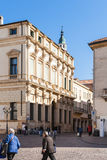 People on Corso Andrea Palladio of Piazza Castello Royalty Free Stock Images
