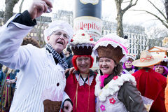 Mardi Gras costumes - Muffins  in Duesseldorf Stock Photos